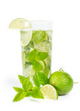 Mohito mojito drink with lime and mint Royalty Free Stock Images