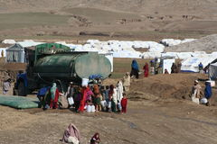 Mohmand Refugee Camp. In the North Western Frontier region of Pakistan Stock Photos
