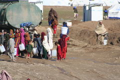 Mohmand Refugee Camp. In the North Western Frontier region of Pakistan Royalty Free Stock Photography