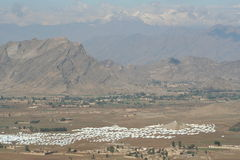 Mohmand Refugee Camp. In the North Western Frontier region of Pakistan Royalty Free Stock Photos