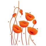 Mohnblume-Blumenauslegung Stockbild