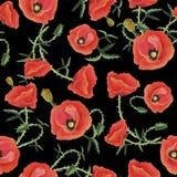 Mohnblumen auf einem Schwarzen Lizenzfreies Stockbild