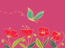 Mohnblumen und Basisrecheneinheitslandschaft Stockbilder