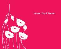 Mohnblumenblumen-Designhintergrund Lizenzfreies Stockfoto