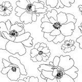 Mohnblumenblumenentwurf, nahtloser Hintergrund Stockfotos