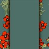 Mohnblumenblumenhintergrund Lizenzfreie Stockbilder