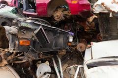 Moho de los vehículos en scrapyard Imágenes de archivo libres de regalías