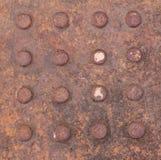 Moho en textura sucia del hierro Fotografía de archivo