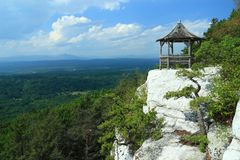 Mohonk Gazebo and Valley Stock Photography