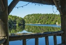 Mohonk jezioro Obrazy Royalty Free