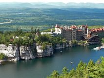 Mohonk Mountain House. A view of the Mohonk Mountain House overlooking Lake Mohonk, in New Paltz, New York Stock Photography
