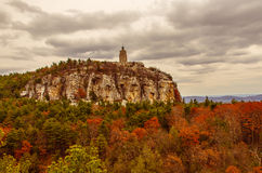 Mohonk Preserve - Skytop. Landscape new mountain rocks rock cliff lookout paltz autumn skytop sky structure trees architecture hudson shawangunk ulster valley Royalty Free Stock Image