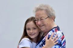 Moi et grand-maman Photographie stock