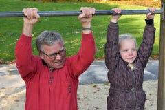 Moi et grand-papa image libre de droits
