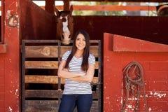 Moi et mon ami de cheval ! Photographie stock libre de droits