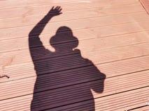 Moi et mon ombre Image stock