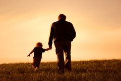 Moi et mon papa Photo libre de droits