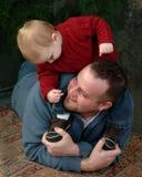 Moi et papa photos stock