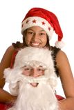 Moi et Santa Image stock