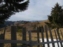 Moieciu de Jos, a day in January. Romanian mountains - Moieciu de Jos Village Stock Photos