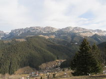 Moieciu de Jos, view. Romanian Mountains from Moieciu de Jos Stock Image