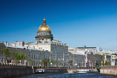 Moika和结构Sankt彼得斯堡 免版税库存图片