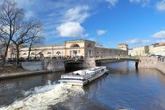moika彼得斯堡河st 免版税库存图片