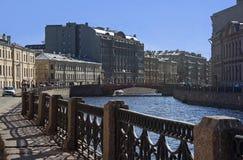 Moika-Damm, St. Petersburg Stockfotografie