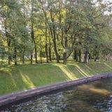 Moika Embankment at the Mikhailovsky Garden. Stock Photos