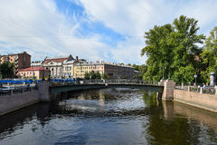 The Moika embankment in St. Petersburg Royalty Free Stock Images