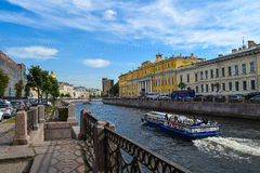 The Moika embankment in St. Petersburg Stock Images