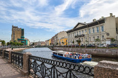 The Moika embankment in St. Petersburg Royalty Free Stock Image
