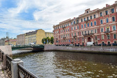 The Moika embankment in St. Petersburg Stock Image