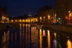 Moika flod i St Petersburg, Ryssland Arkivbild