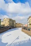 Moika-Fluss. St. Petersburg Russland Stockfotos