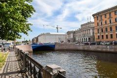 The Moika river embankment in Leningrad Stock Images