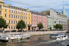 The Moika river embankment in Leningrad Royalty Free Stock Image