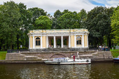 The Moika river embankment in Leningrad Royalty Free Stock Photography
