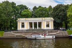 The Moika river embankment in Leningrad Royalty Free Stock Photography