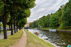 The Moika river embankment in Leningrad Royalty Free Stock Photo