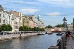 The Moika river embankment in Leningrad Stock Photo