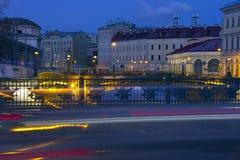 The Moika river embankment, Saint Petersburg, Russia Stock Photography