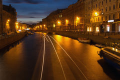 Moika river, St. Petersburg, Russia Royalty Free Stock Photos