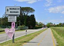 Moimacco attende il postagiro 2016 d' L'Italia Fotografie Stock