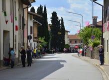 Moimacco awaits the 2016 Giro d'Italia Royalty Free Stock Photos