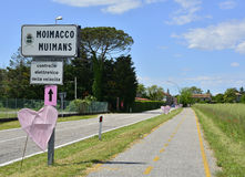Moimacco awaits the 2016 Giro d'Italia Stock Photos
