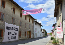 Moimacco wacht op 2016 Giro d' Italië Stock Foto's