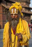 Moine ascétique, homme saint de Sadhu photos libres de droits