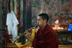Moine bouddhiste sur la cérémonie Images libres de droits
