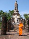 Moine bouddhiste thaï Image libre de droits